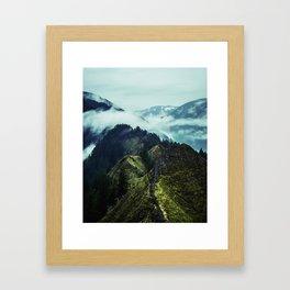 Forest Mountains Blue Sky Framed Art Print
