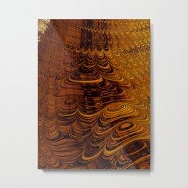 Molten Honey - Fractal Art Metal Print