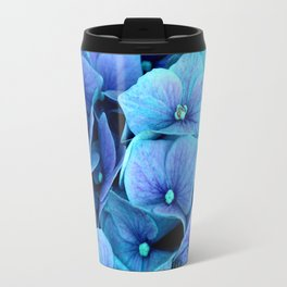 Purple Blue hydrangea Travel Mug