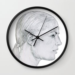 Troubled Woman Wall Clock