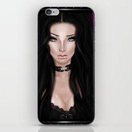 Brunette Girl iPhone Skin