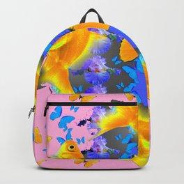 GOLDFISH & BUTTERFLIES PINK NURSERY ART Backpack