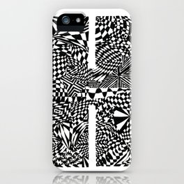 Alphabet Letter H Impact Bold Abstract Pattern (ink drawing) iPhone Case