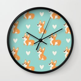 Corgi Pups Wall Clock