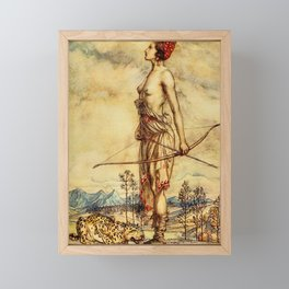 Bare chested archer Framed Mini Art Print