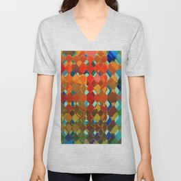 Abstract Composition 614 Unisex V-Neck