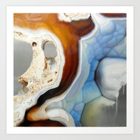 geode Art Prints featuring Geode by Stephanie Calvert