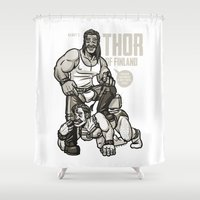 finland Shower Curtains featuring Thor of Finland by Randy Meeks