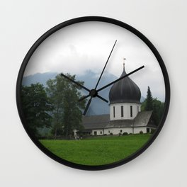 Winter Fog Wall Clock
