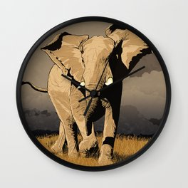The Elephant's Marching Wall Clock