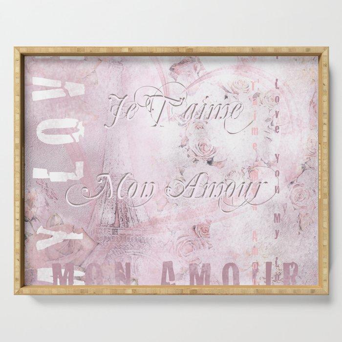 Je Taime Mon Amour Serving Tray By Gittaglaeser