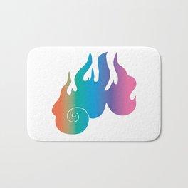 Rainbow Flame of God's Wrath Bath Mat