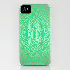 Radiate (Yellow/Ochre Teal- non metallic) iPhone (4, 4s) Slim Case