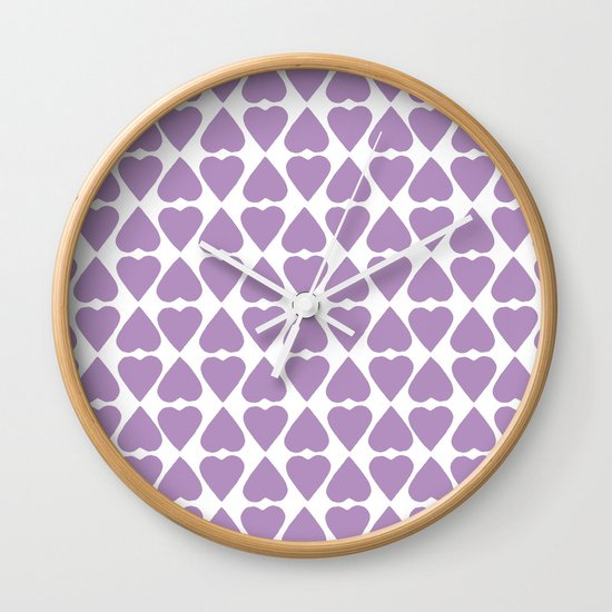 Diamond Hearts Repeat O Wall Clock