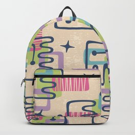 Mid Century Modern Abstract Pattern 732 Backpack