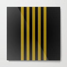 black on gold pattern Metal Print