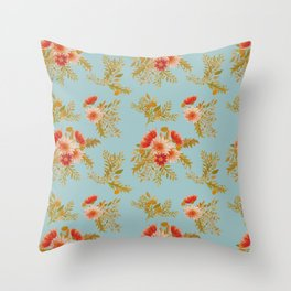 Watercolor floral bunches Throw Pillow