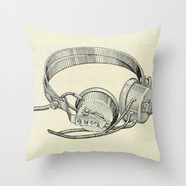 Old school headphones. Throw Pillow