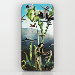 VAHINE AND SPACE ROCKET iPhone Skin