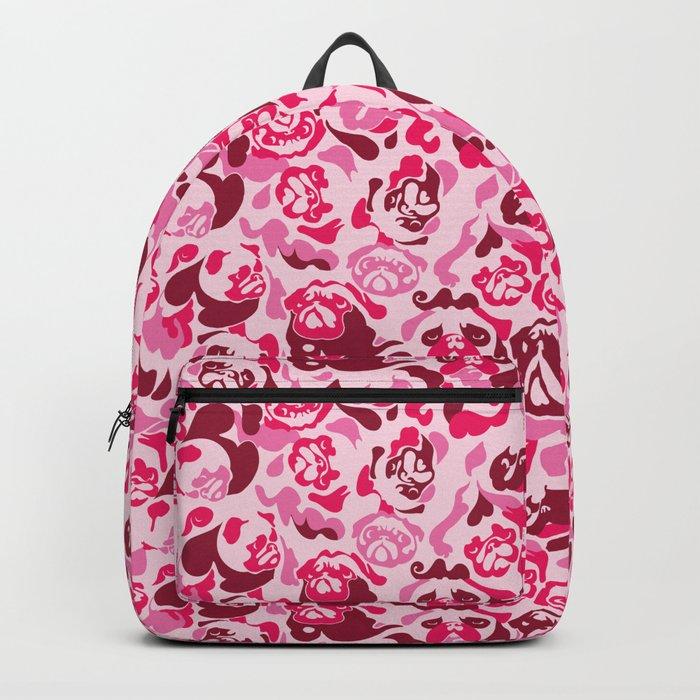 Pug Camouflage Pink Backpack