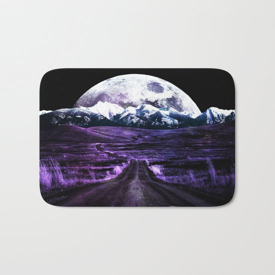 Highway to Eternity (moon mountain) violet Bath Mat
