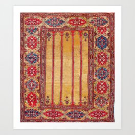 Ladik Central Anatolian Column Rug Print Art Print