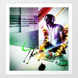 """spin me"" Art Print"