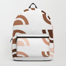 Half Circle Array 02 - Mid Century Modern Print Backpack