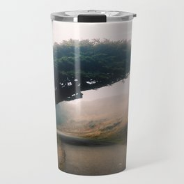 Leaning Cypress tree in Point Reyes National Seashore Travel Mug