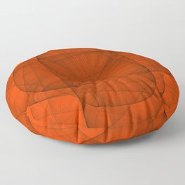 Fractal Eternal Rounded Cross in Red Floor Pillow