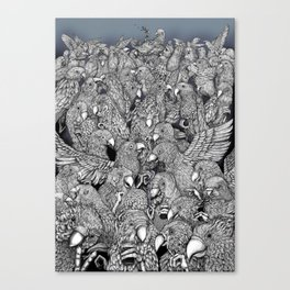 Birds of a feather .. Canvas Print