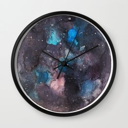 Galaxy round shape with stars Wall Clock