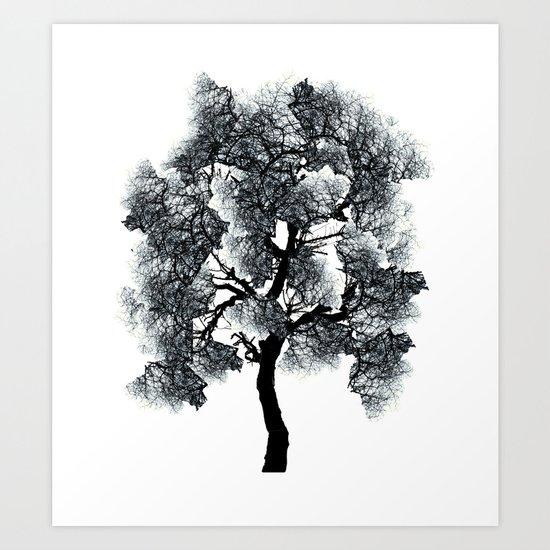 Collage Tree Art Print