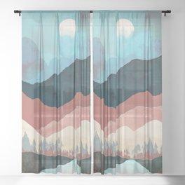 Fall Transition Sheer Curtain