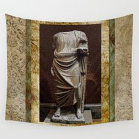 greece Wall Tapestries featuring Greece  by Saundra Myles
