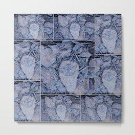Frost & Leaves Metal Print
