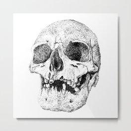 Skull. This too shall pass Metal Print