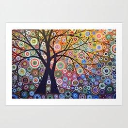 Abstract Art Landscape Original Painting ... Magic Garden Art Print