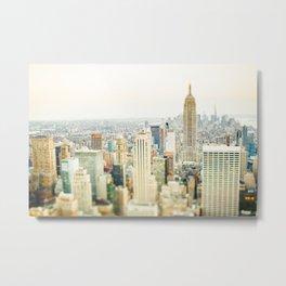 New York Tilt Shift Metal Print
