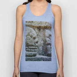 Mayan Stone Skulls Unisex Tank Top