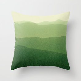 gradient landscape green Throw Pillow