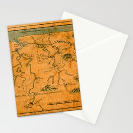 Map Of Suriname 1808 Stationery Cards