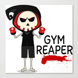 Gym Reaper   Fitness Grim Reaper Training Canvas Print