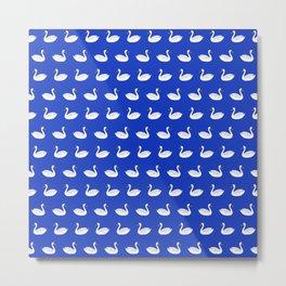 SWANS ((azure)) Metal Print