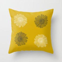 corn marigold print Throw Pillow