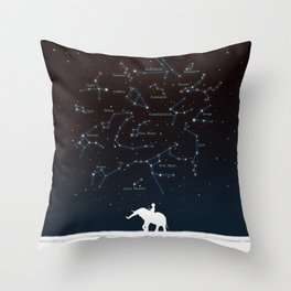 Falling star constellation Throw Pillow