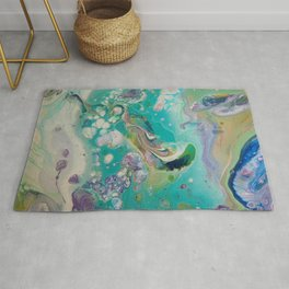 Fluid Nature - Mermaid Seas - Abstract Acrylic Art Rug