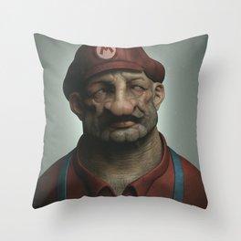 Mario Throw Pillow