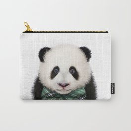 Baby Panda With Bow Tie, Baby Animals Art Print By Synplus Carry-All Pouch