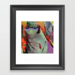 Touch right in the heart by your love Framed Art Print